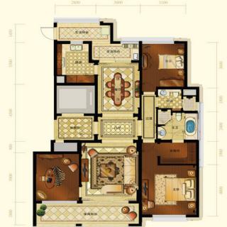 一期2号楼标准层A3户型