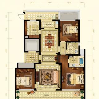 一期2号楼标准层A1户型