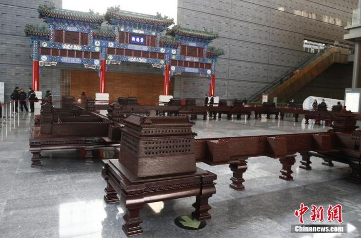 数十吨紫檀复建北京古城 再现九大城门原貌 - 和蔼一郎 - 和蔼一郎