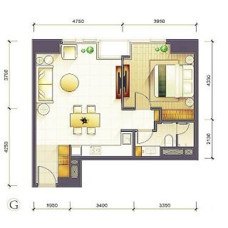 1-3号楼标准层G户型