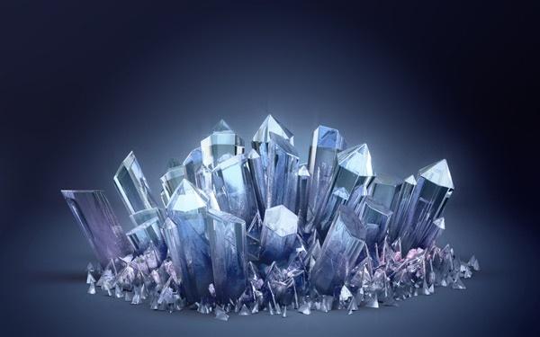 水晶吊坠 矢量图