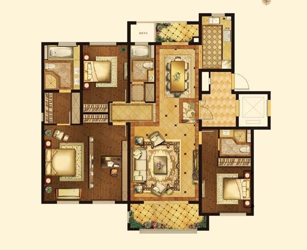 80平方 房屋设计图展示图片