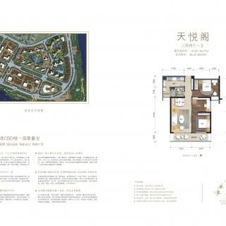 B3栋天悦阁住宅户型图