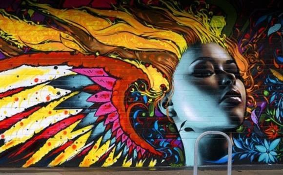 画彩色涂鸦房子
