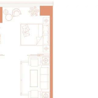 83平B-1一居户型图
