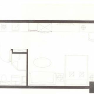 高层公寓标准层A1户型