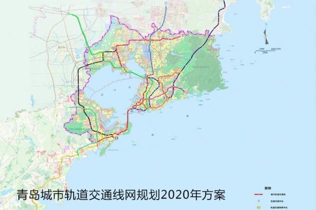 青岛地铁M1号线站点公示 将与11条地铁线路交汇换乘