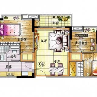 4栋A梯04单元户型图【在售】