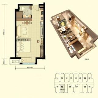 平层公寓标准层A户型