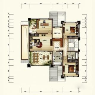 一期CU户型独联体别墅二层