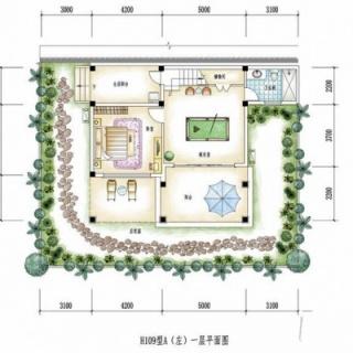 凤泉谷H109型A(左)一层