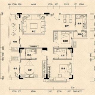 C1栋02单元户型图