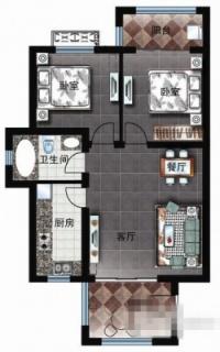 三区洋房D1户型图