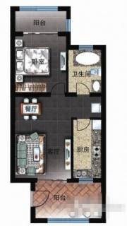 三区洋房D2户型图