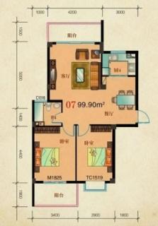 3栋5栋-07标准层户型