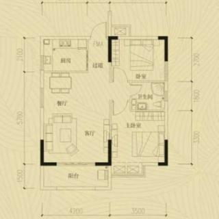 两室两厅一厨一卫20130618(4)