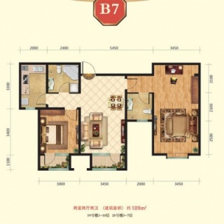 高层19号楼3-10层B7户型