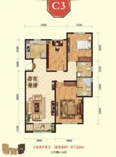 高层11号楼4-23层C3户型