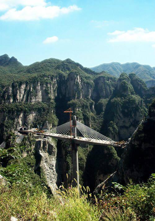 400米悬崖30多米宽谷底 山西太行山亚洲第一桥 - 雷石梦 - 雷石梦