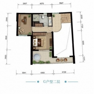 海景公寓G二层户型图