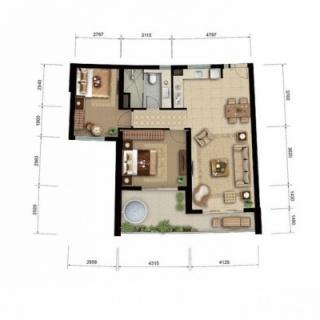 海景公寓 c户型图