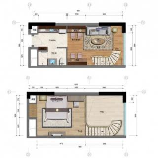 1室2厅1卫46平