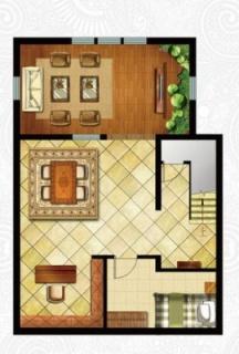 一期独栋别墅D2户型地下一层
