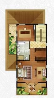 一期独栋别墅D2户型三层