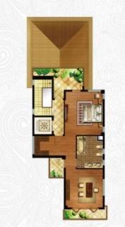 一期独栋别墅D1户型三层