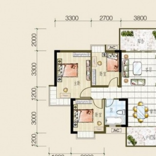 5号房户型图