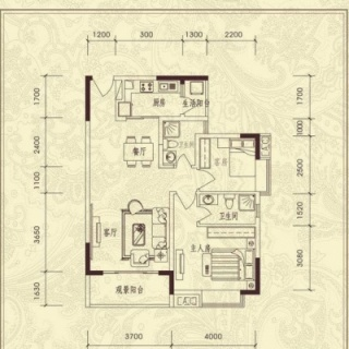 二房户型图
