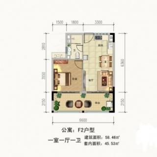 公寓F2户型