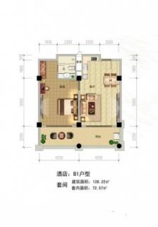 酒店B1户型
