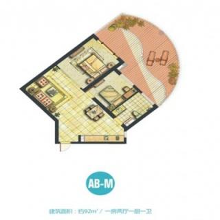 船长公寓AB-M户型图