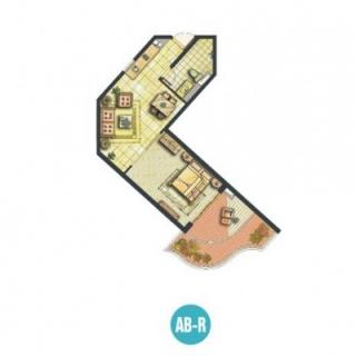 船长的公寓AB-R户型图