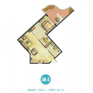 船长公寓AB-S户型图