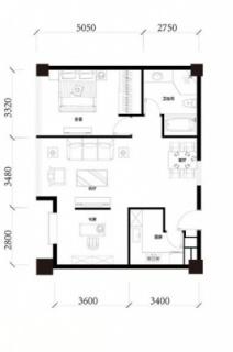 公寓标准层A1户型