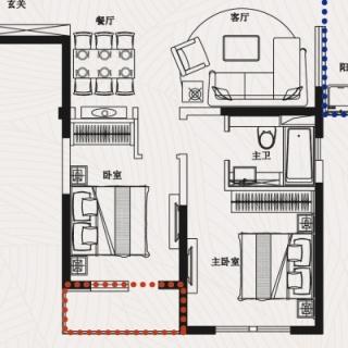 J6四室二厅二卫129平米