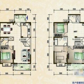 柏林园公寓跃层户型图
