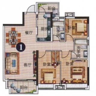 3、4栋标准层01户型