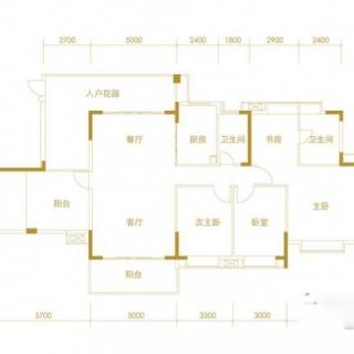 Y1-10栋401-601标准层户型图