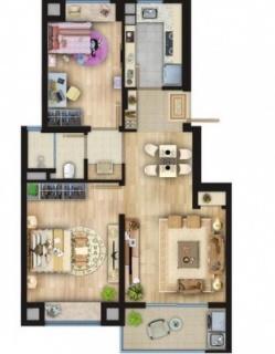 75平两室两厅一厨一卫