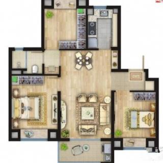89平3室2厅1厨1卫