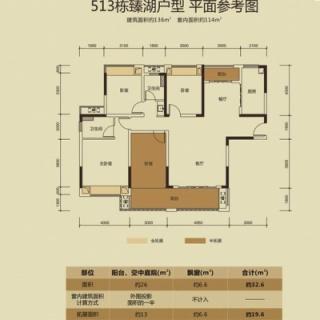 513栋臻湖户型