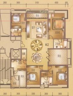 3座双江豪景大宅2-33层02户型