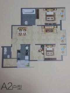 A2户型图四室两厅123平