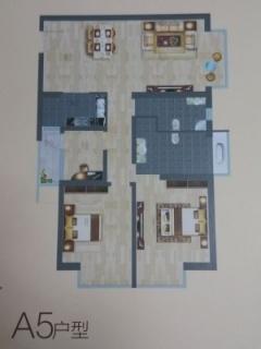 A5户型图三室两厅115平