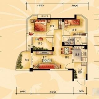 一期商业街洋房J606-A户型2