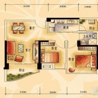 一期商业街洋房J606-A户型