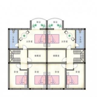 联排别墅二层平面图